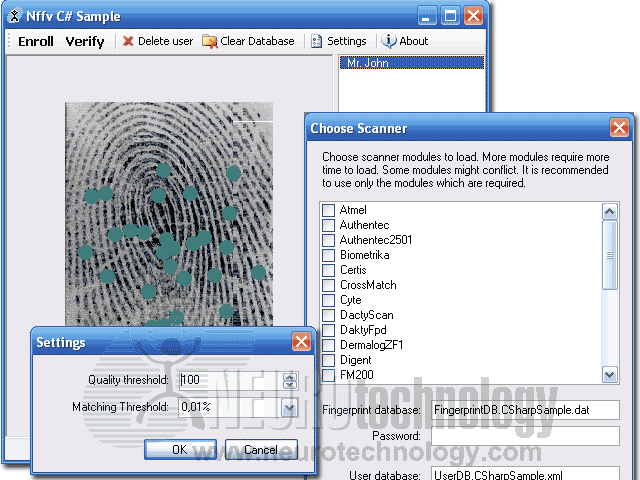 Freeware biometric SDK and .NET components