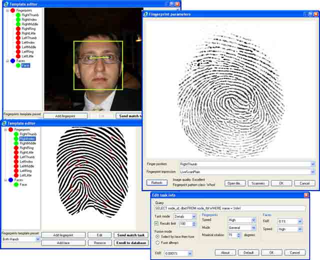 Large-scale multi-biometric AFIS SDK trial