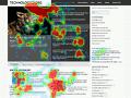 SentiGaze generó mapa de calor para un sitio web